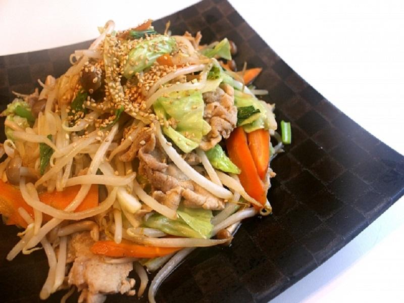 野菜炒め(大きさ加工)